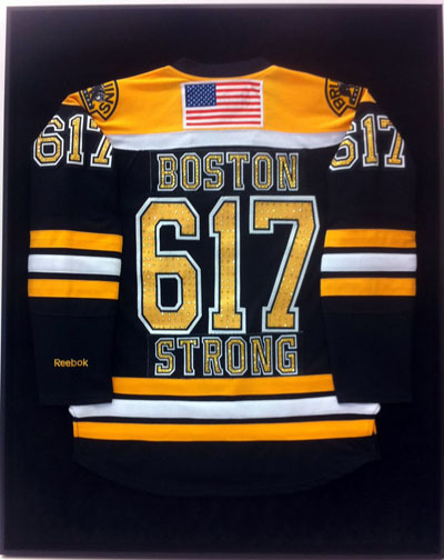 Bejeweled Bruins Jersey from Boston Strong concert